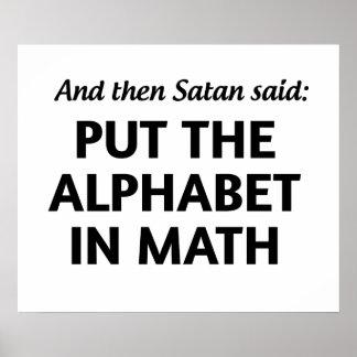 Satans Math Poster