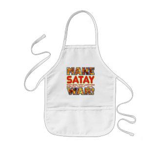 Satay hace X Delantal Infantil
