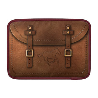 """satchel Pony Express leather with initial """"A"""" MacBook Air Sleeve"""
