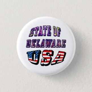 Sate of Delaware Picture and USA Flag Text Button