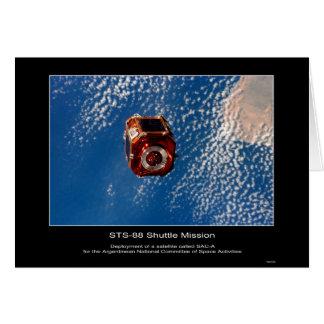 Satélite argentino de SAC-A desplegado de NASA STS Tarjeta De Felicitación