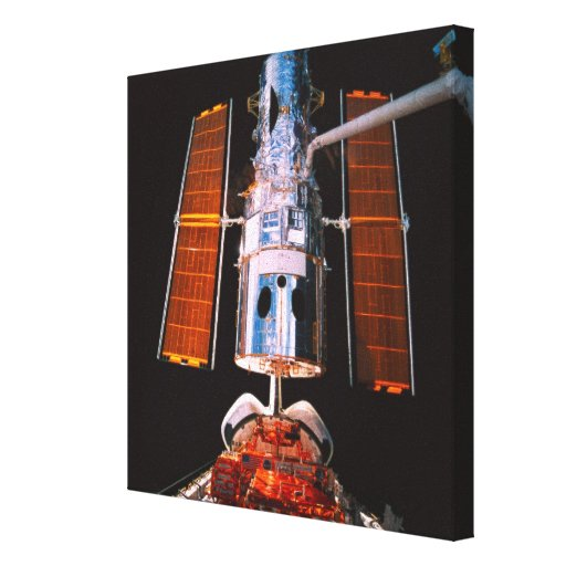 Satélite atracado en transbordador espacial lona estirada galerias