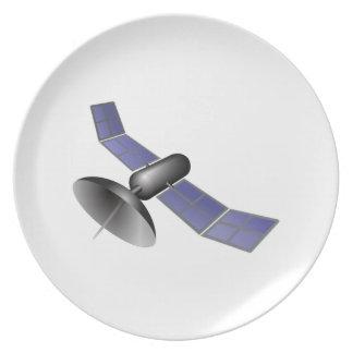 Satélite del espacio platos