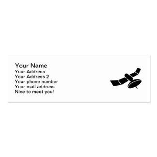 Satélite del espacio plantillas de tarjeta de negocio