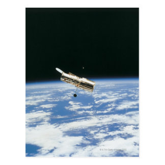 Satélite en la órbita 3 tarjetas postales