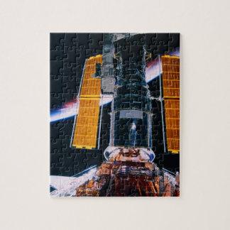 Satélite que lanza de transbordador espacial puzzle