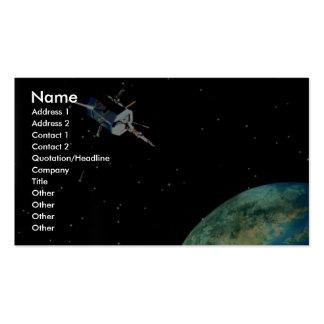 Satélite sobre la tierra tarjeta personal