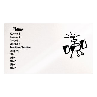 Satélite/tarjeta de visita de las comunicaciones