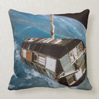 Satellite above Earth Throw Pillows