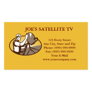 Satellite Cable TV Installation Business Card