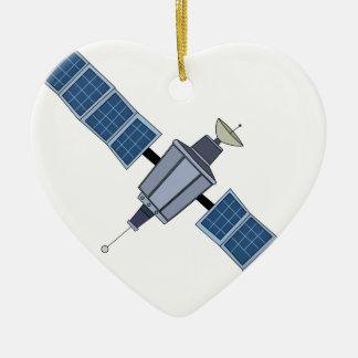 Satellite Ceramic Ornament