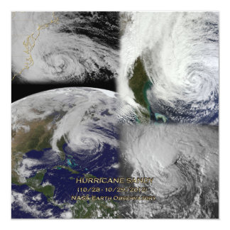 Satellite Collage View of Hurricane Sandy Card