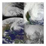 Satellite Collage View of Hurricane Sandy 5.25x5.25 Square Paper Invitation Card