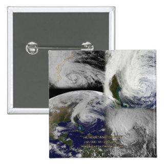 Satellite Collage View of Hurricane Sandy Pinback Button