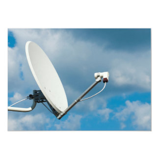 Satellite dish card