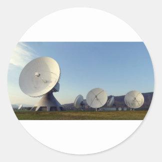 Satellite Dish Classic Round Sticker
