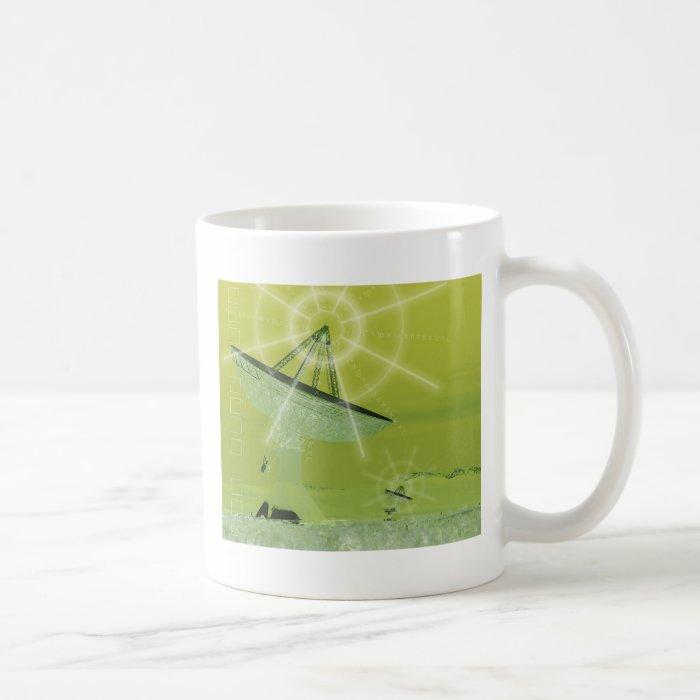 satellite dish coffee mug