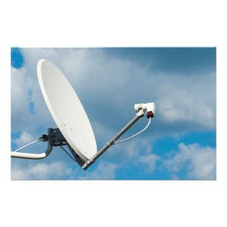 Satellite dish flyer