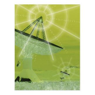 satellite dish postcard