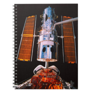 Satellite Docked on Space Shuttle Notebook