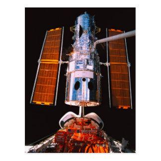Satellite Docked on Space Shuttle Postcard