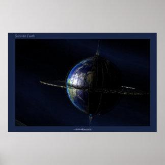 Satellite Earth Print