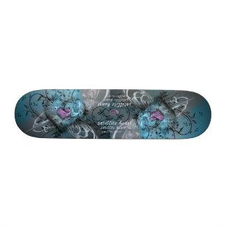 satellite heart skateboard deck