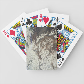 Satellite Image Bicycle Playing Cards