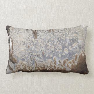 Satellite Image Lake Dundas Salt Lake Throw Pillow