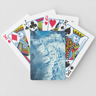 Satellite Image of a Mountain Range Bicycle Playing Cards