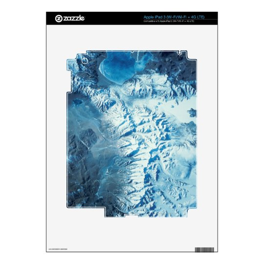 Satellite Image of a Mountain Range iPad 3 Skins