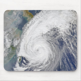 Satellite image of a typhoon mouse pad