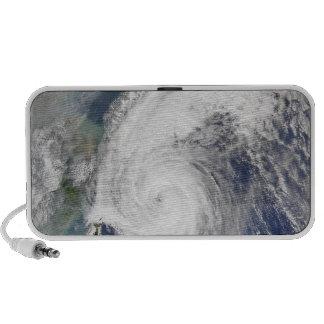 Satellite image of a typhoon iPod speakers