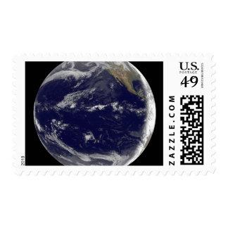 Satellite image of Earth 2 Postage Stamp