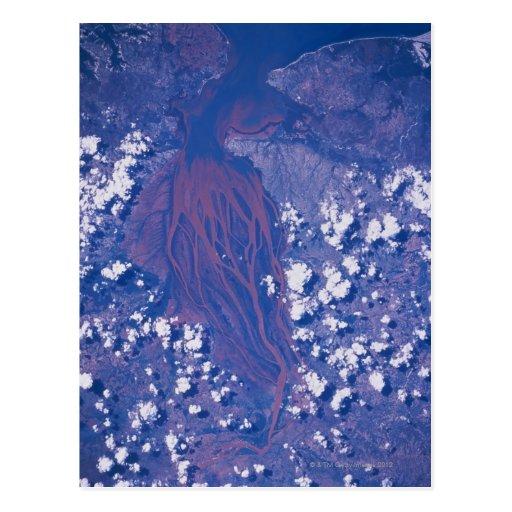 Satellite Image of Earth 2 Postcard