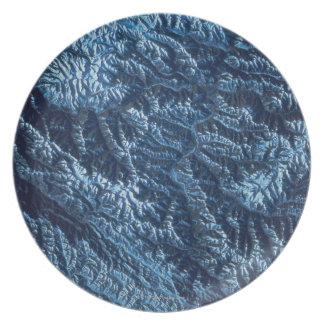 Satellite Image of Earth Dinner Plate