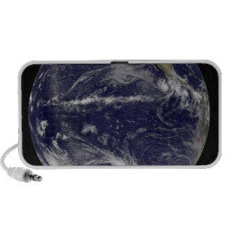 Satellite image of Earth Travelling Speaker