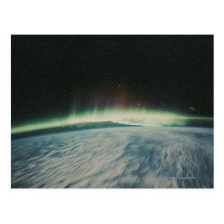 Satellite Image of Northern Lights Postcard