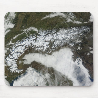 Satellite image of The Alps mountain range Mouse Pad