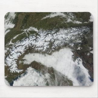 Satellite image of The Alps mountain range Mousepads