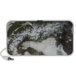 Satellite image of The Alps mountain range iPhone Speakers
