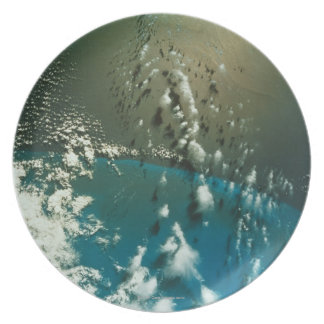 Satellite Image of The Florida Strait Party Plate