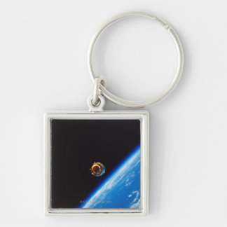 Satellite in Orbit 2 Keychain