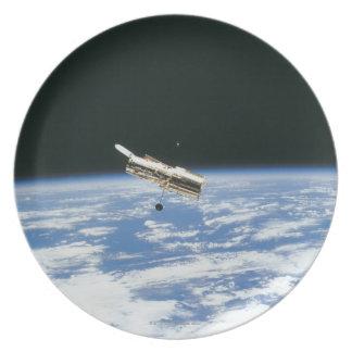 Satellite in Orbit 3 Dinner Plate