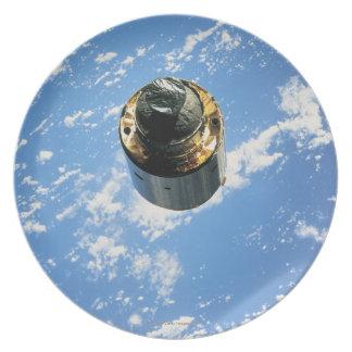 Satellite in Orbit 4 Dinner Plate