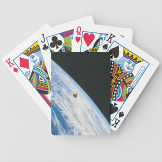 Satellite in Orbit Bicycle Playing Cards