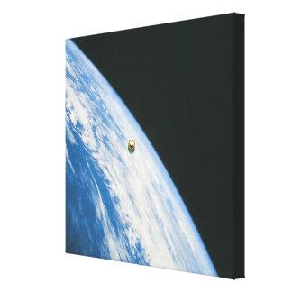 Satellite in Orbit Canvas Print