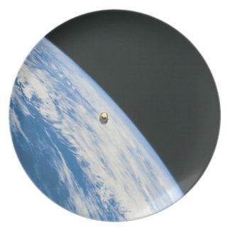 Satellite in Orbit Dinner Plate