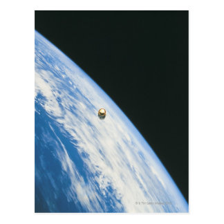 Satellite in Orbit Postcard
