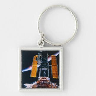 Satellite Launching from Space Shuttle Keychain